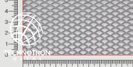 Siatka cięto-ciągniona TR 10 x 5 x 1 mm, 0,8x1000x2000 mm,  z blachy aluminiowej ENAW1050