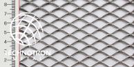 Siatka cięto-ciągniona TR 22 x 12 x 2,5 mm,  1x1000x2000 mm,  z blachy aluminiowej ENAW1050