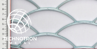 Wypełnienia ogrodzeniowe - TJX Rybia łuska 150x52x4 mm, 4.0x1250x2000, Siatka cięto-ciągniona z blachy stalowej DD11-DD13/S235