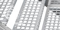 Stopień schodowy - B - Cube R13/V10, ocynk ogniowy / 40 x 40 / 30 x 2 / 1000 x 270 mm